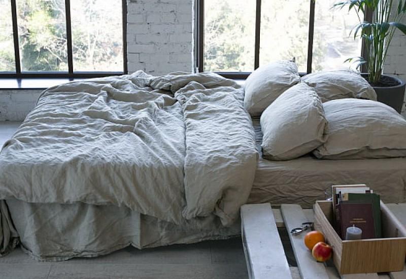 100 Leinen Bettwäsche Lk 03 Einfacher Weich